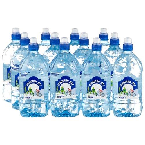 Питьевая вода Шишкин лес Спорт негазированная, ПЭТ, 12 шт. по 1 л истэль вода талая негазированная 12 шт по 0 5 л