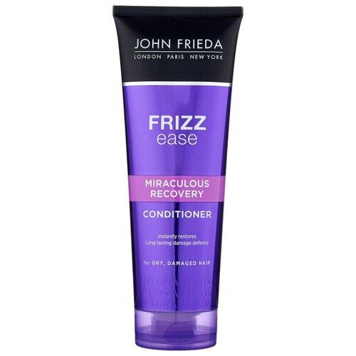 John Frieda кондиционер Frizz Ease Miraculous Recovery восстанавливающий для сухих поврежденных волос, 250 мл john frieda кондиционер для гладкости волос против влажности frizz ease forever smooth 250 мл