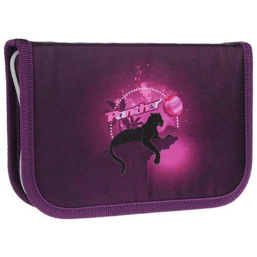 Mag Taller Пенал Panther с наполнением (27 предметов) фиолетовый mag taller рюкзак zoom flowers разноцветный
