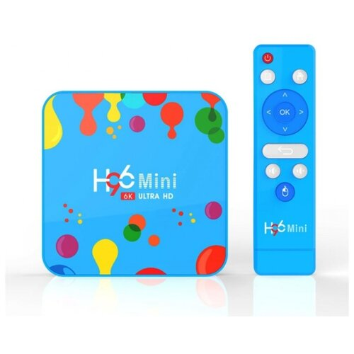 ТВ-приставка Vontar H96 Mini H6 4/128 Gb голубой