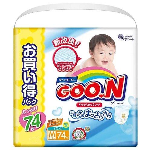 Goo.N трусики Ultra M (7-12 кг) 74 шт. momi трусики m 6 10 кг 44 шт