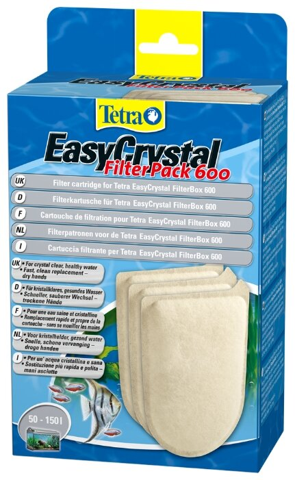 Tetra картриджи EasyCrystal Filter Pack 600 (комплект: 3 шт.)