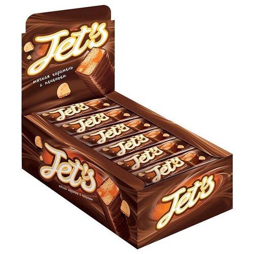 Батончик KDV Jet's с печеньем и мягкой карамелью, 42 г (18 шт.)