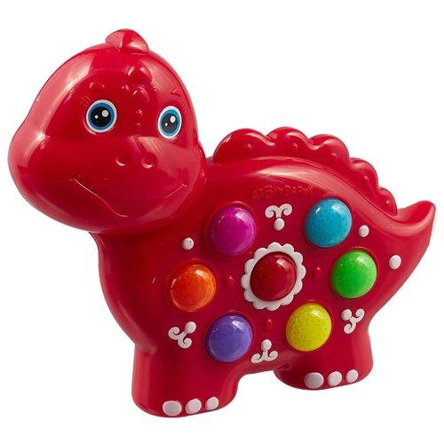 Интерактивная развивающая игрушка Азбукварик Веселушки Динозаврик красный интерактивная игрушка азбукварик веселые уроки от 3 лет