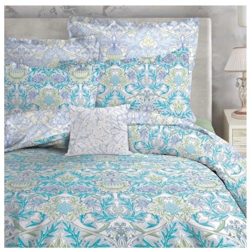 цена Постельное белье 2-спальное Mona Liza Mary, сатин air blue онлайн в 2017 году