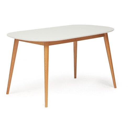 Стол кухонный TetChair Max, ДхШ: 140 х 80 см, белый/бук