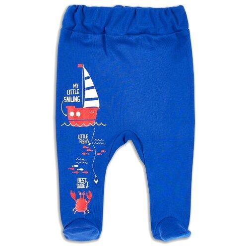 Ползунки Веселый Малыш, размер 62, синий/краб недорого