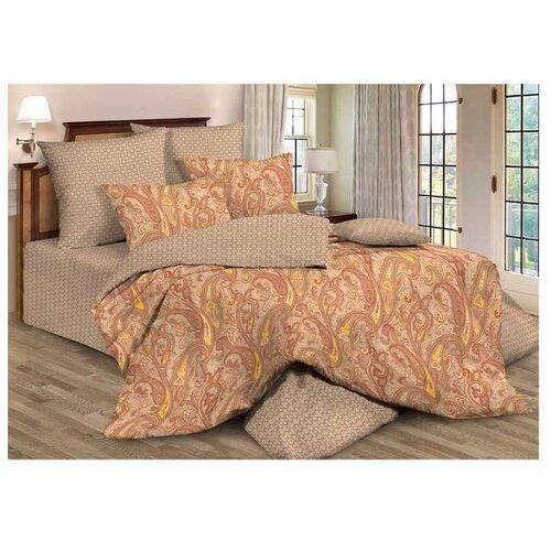 Постельное белье 1.5-спальное Guten Morgen 576 70х70 см, поплин коричневый одеяло guten morgen поплин 140х205 см
