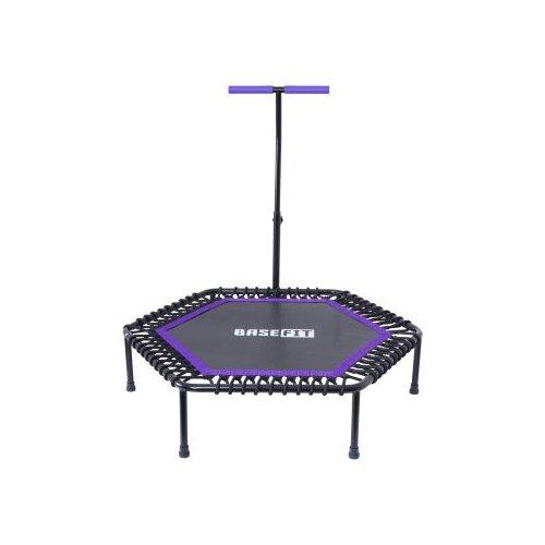 Каркасный батут BaseFit TR-401 122 см 122х122 см фиолетовый