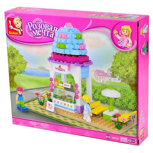 Купить Конструктор SLUBAN Розовая мечта M38-B0525 Магазин мороженого, Конструкторы