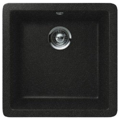 Фото - Врезная кухонная мойка 45 см Schock Quadro N-100S оникс врезная кухонная мойка 45 см schock soho n 100s серебристый камень