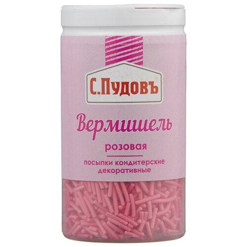 С.Пудовъ посыпки кондитерские декоративные Вермишель 40 г розовая