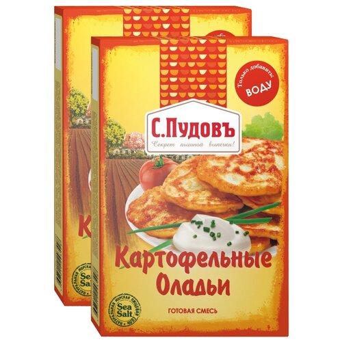 С.Пудовъ Мучная смесь Оладьи картофельные, 2 шт, 0.25 кг бейкервилль смесь мучная оладьи