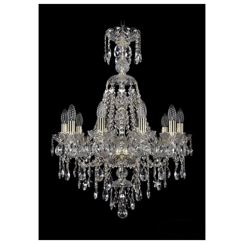 Фото - Люстра Bohemia Ivele Crystal 1415 1415/10/200/XL-76/G, E14, 400 Вт люстра bohemia ivele crystal 1415 1415 20 10 5 400 xl 180 3d g e14 1400 вт