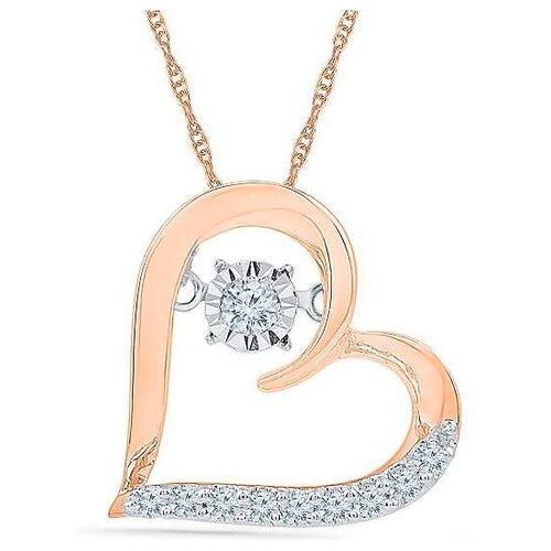 Фото - ЛУКАС Подвеска Сердце с 10 бриллиантами из красного золота P01-D-PH017616 лукас подвеска с 19 бриллиантами из красного золота p01 d 33651
