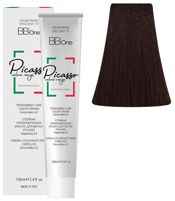 Купить BB One Picasso Colour Range Перманентная крем-краска, 5.0 интенсивный натуральный светло-коричневый, 100 мл по низкой цене с доставкой из Яндекс.Маркета