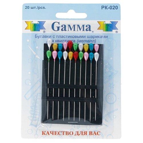 Купить Набор булавок Gamma PK-020, многоцветный, 20 шт., Иглы