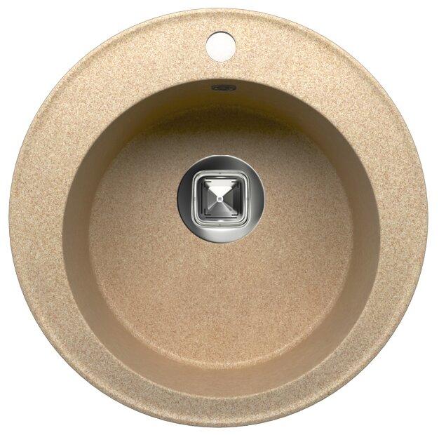 Врезная кухонная мойка Tolero R-108 51х51см кварцевый искусственный камень