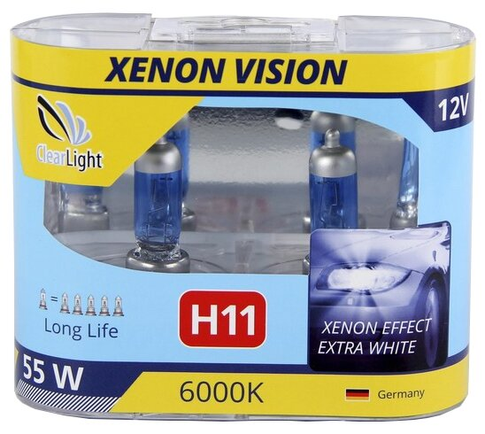 Лампа автомобильная галогенная ClearLight XenonVision MLH11XV H11 55W 2 шт. — купить по выгодной цене на Яндекс.Маркете