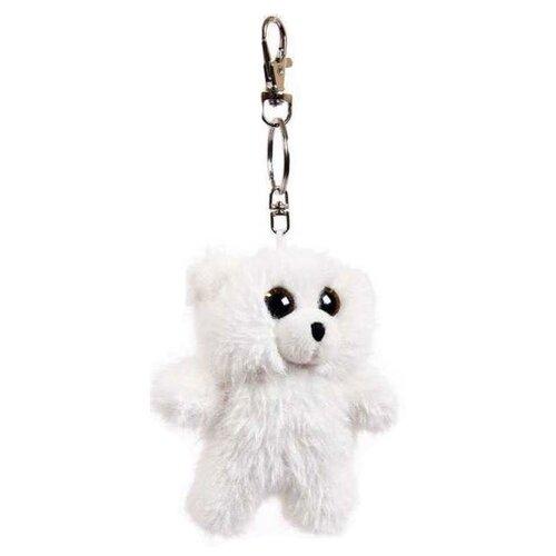 Купить Игрушка-брелок ABtoys Флэтси Мини Мишка белый 9.5 см, Мягкие игрушки