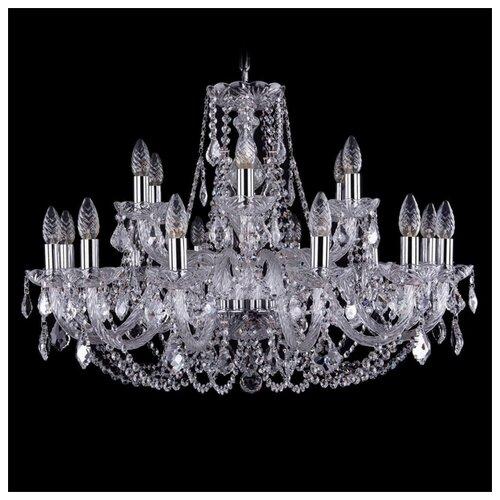 Люстра Bohemia Ivele Crystal 1406 1406/12+6/300/Ni/Leafs, E14, 720 Вт