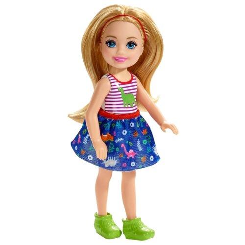 Купить Кукла Barbie Челси блондинка в топе с динозавром, 13 см, FXG82, Куклы и пупсы