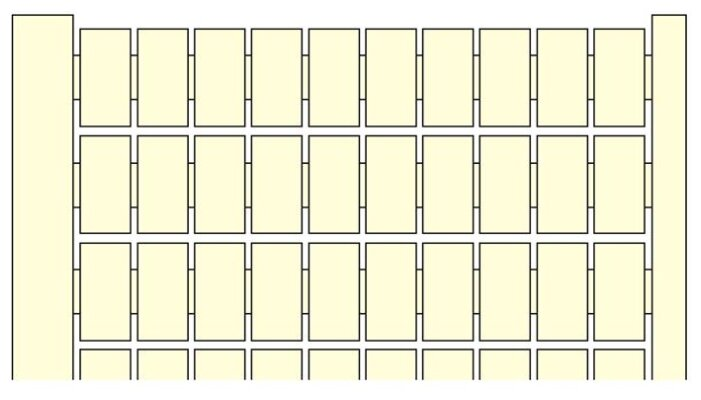 Маркировка для клеммной колодки/ клеммного блока ABB 1SNA229042R0200