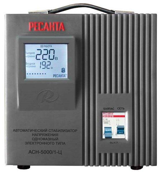 Стабилизатор напряжения однофазный РЕСАНТА ACH-5000/1-Ц (5 кВт)