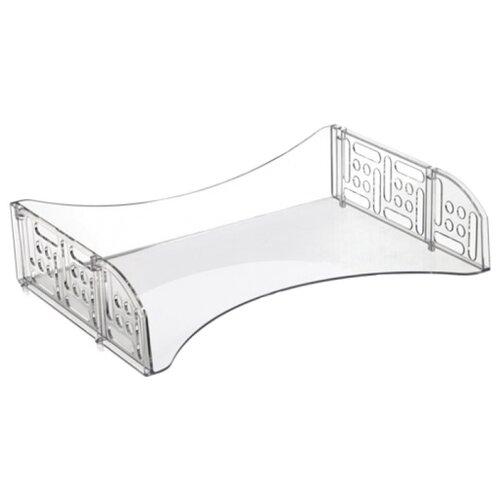 Лоток горизонтальный для бумаги СТАММ Field прозрачный