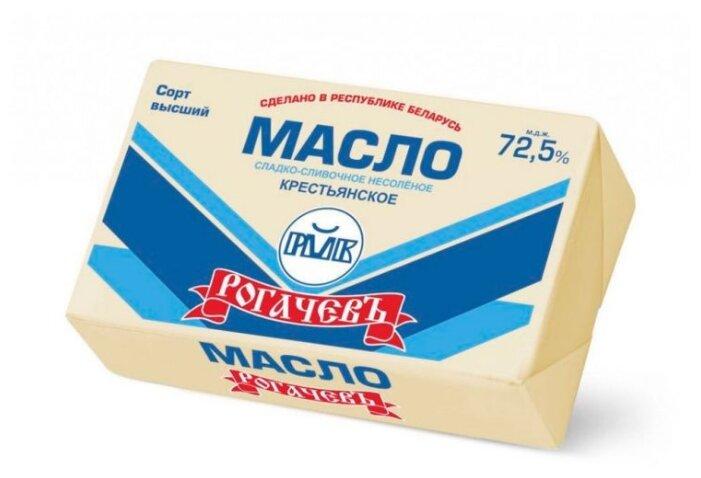 Рогачевский молочноконсервный комбинат Масло сладко-сливочное несоленое Крестьянское 72.5%, 160 г