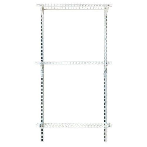 Стеллаж Masterprof ТД.010019 66.7х38х120 см белый цепь декоративная с крючком masterprof для подвесных кашпо цвет белый