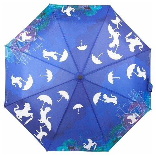 Зонт автомат FLIORAJ Imaginary Кошки синий зонт складной flioraj flioraj fl976dwente7
