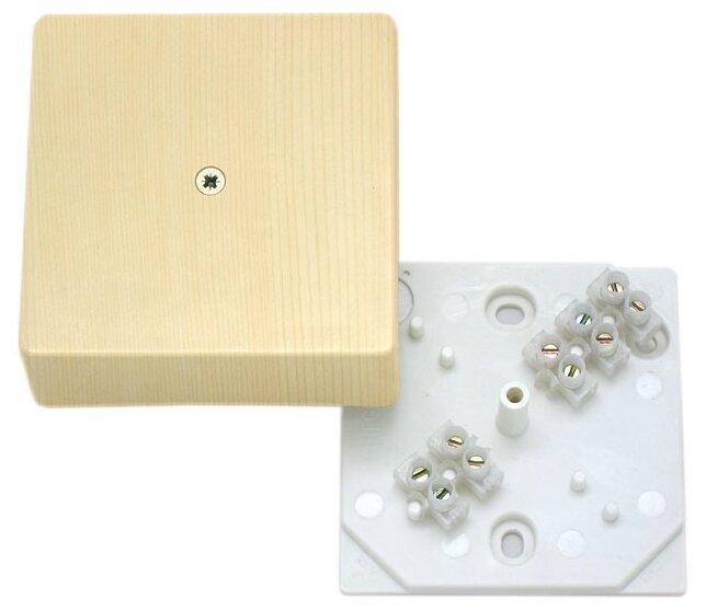 Распределительная коробка HEGEL КРК2702 0201-И наружный монтаж 75x75 мм