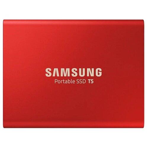 Фото - Внешний SSD Samsung Portable SSD T5 500 ГБ красный часы samsung galaxy watch active sm r 500 n зелёный