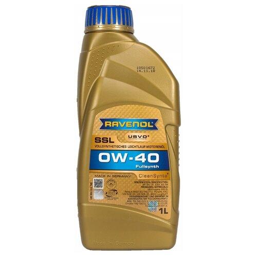 Моторное масло Ravenol Super Synthetik Öl SSL SAE 0W-40 1 л моторное масло ravenol super synthetic hydrocrack ssh sae 0w 30 4 л