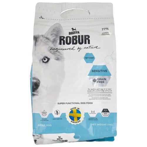 Сухой корм для собак Bozita Robur для здоровья кожи и шерсти, оленина 3 кг сухой корм для собак forza10 best breeders 26 15 для здоровья кожи и шерсти оленина с картофелем 20 кг