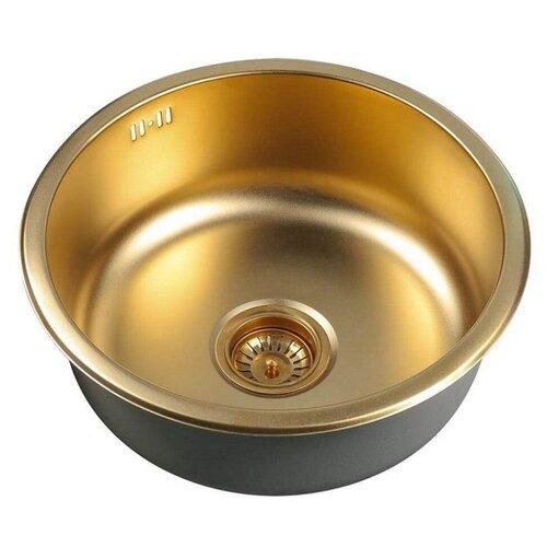 Фото - Врезная кухонная мойка 45 см ZorG PVD SZR-450 BRONZE бронза врезная кухонная мойка 78 см zorg szr 78 2 51 r bronze бронза