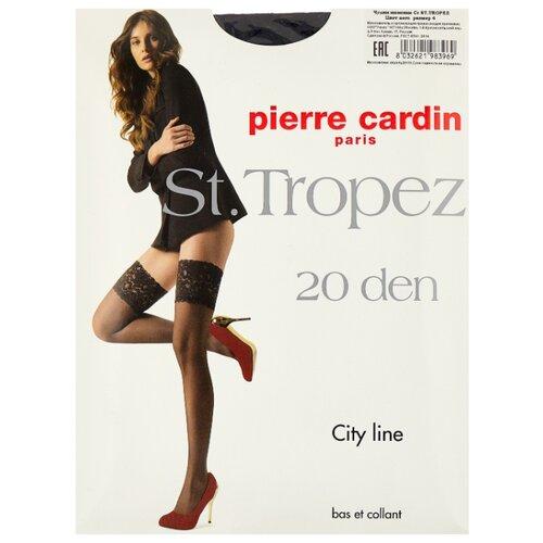 Чулки Pierre Cardin St.Tropez, City Line 20 den, размер IV-L, nero (черный) чулки pierre cardin la rochelle basic line 20 den размер iv l nero