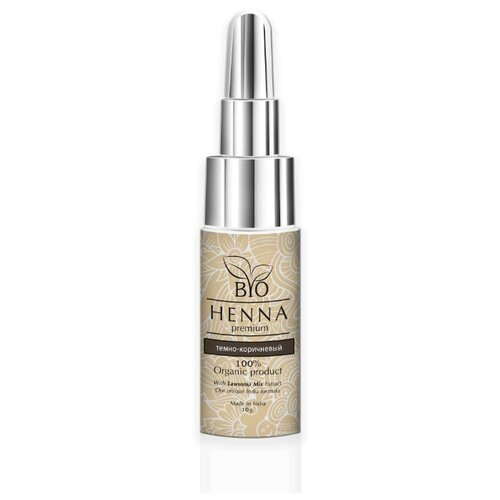 Bio Henna Хна для бровей во флаконе, 10 г темно-коричневый bio henna скраб пилинг для бровей soft peeling