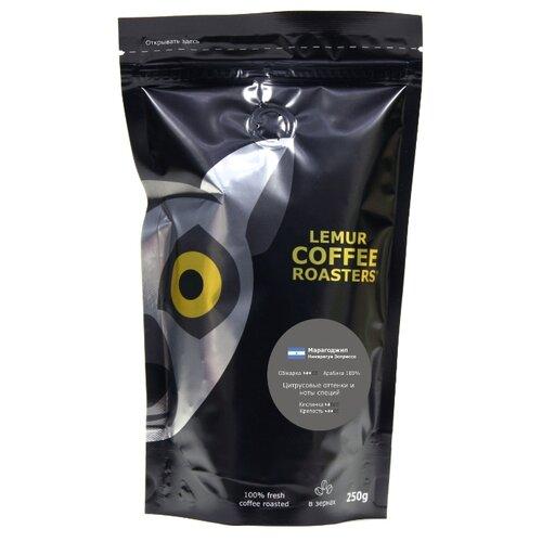 Кофе в зернах Lemur Coffee Roasters Марагоджип Никарагуа Эспрессо, арабика, 250 г кофе в зернах никарагуа марагоджип уп 250 г