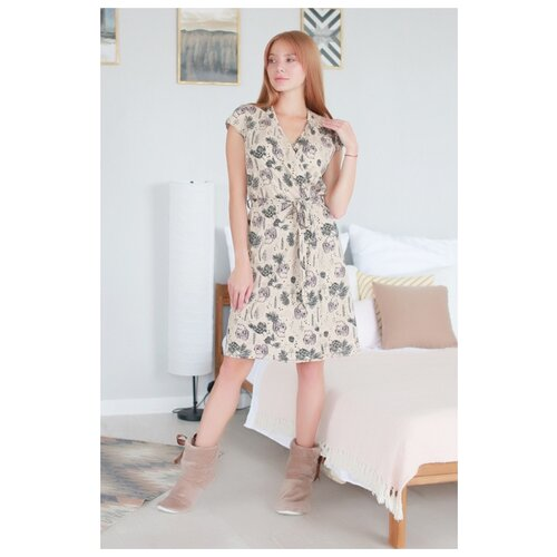Фото - Халат Lika Dress размер 44 бежевый платье lika dress размер 28 бежевый