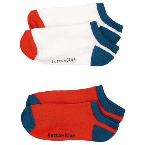 Носки Button Blue комплект из 2 пар, размер 14-16, красный/синий/белый