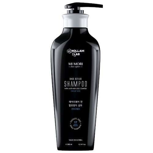 Nollam Lab шампунь Mi Mori Hair Repair против выпадения для сухих и поврежденных волос 300 мл с дозатором каарал шампунь против выпадения