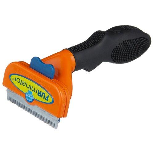 Фурминатор FURminator для короткошерстных собак средних пород 7 см оранжевый/черный