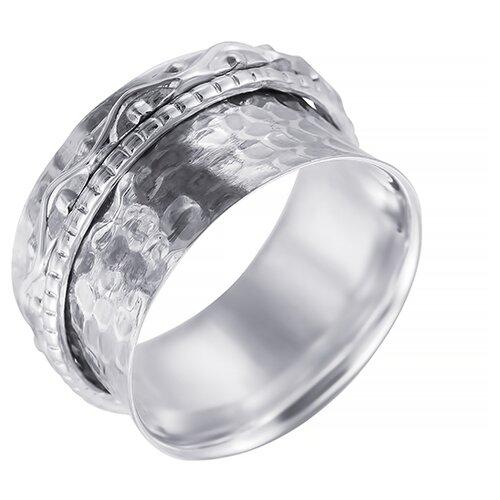ELEMENT47 Широкое ювелирное кольцо из серебра 925 пробы SR8007_KO_001_WG, размер 17.5