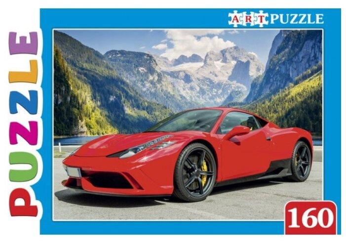 Пазл Рыжий кот Artpuzzle Красное авто в горах (ПА-4575), 160 дет.
