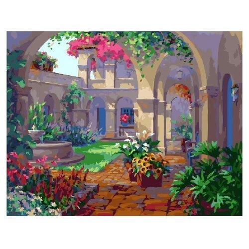 ВанГогВоМне Картина по номерам Внутренний двор, 40х50 см (ZX 22150) картина по номерам вангогвомне рыцарский замок