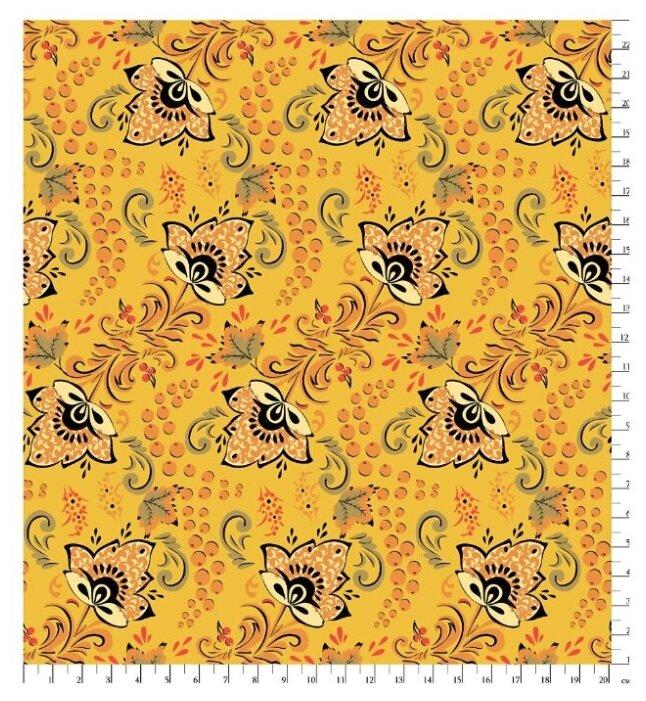 Ткани для пэчворка PEPPY русские традиции фасовка 50 x 55 см 110 г/кв.м 100% хлопок РТ-12 черный