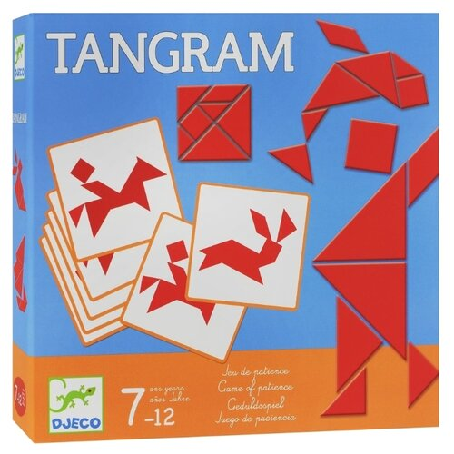 Купить Головоломка DJECO Танграм (08470) красный, Головоломки