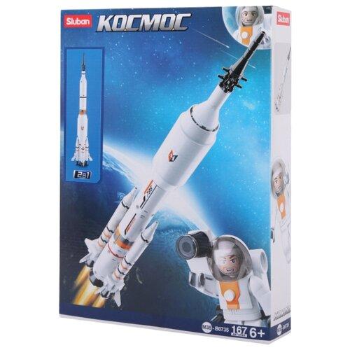 Купить Конструктор SLUBAN Космический десант M38-B0735 Ракета-носитель, Конструкторы